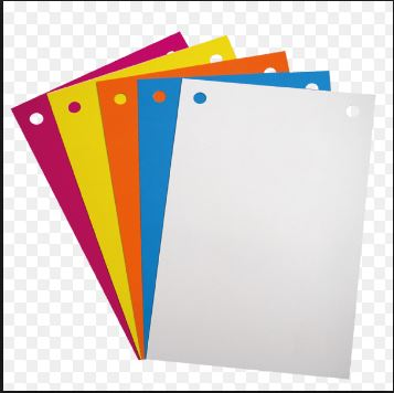 On voit des fiches de révision pour le bac de français. Elles sont de toutes les couleurs.