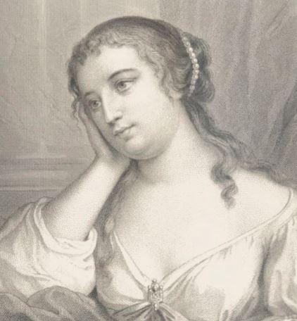 On voit Madame de Lafayette selon sa biographie pensive, en train de réfléchir.