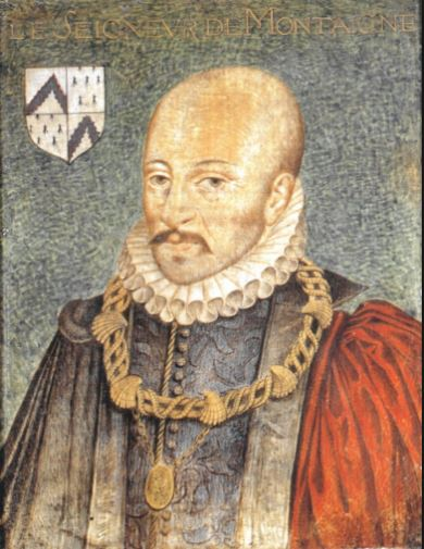 On voit l'image de Michel de Montaigne