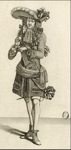 On voit un aristocrate comme dans les Caractères de La Bruyère.