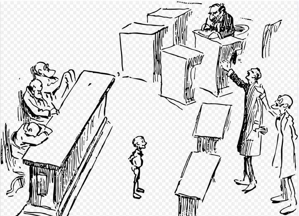 On voit un avocat qui argumente et fait une argumentation.